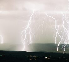 Lightning from Clifton, CO  II by JocNAZ