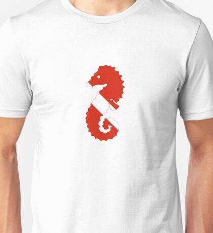 Seahorse Scuba Diver Silhouette Unisex T-Shirt