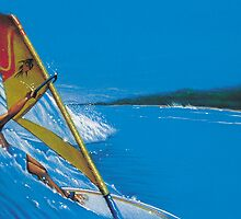 windsurfing in the tropics by Peter Letts