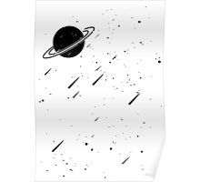 Negative Space: Meteor Shower Poster