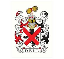 Dell Coat of Arms Coat of Arms Art Print