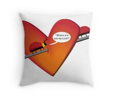 Where is Love? Throw Pillow