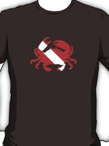 Crab Scuba Diver Silhouette T-Shirt
