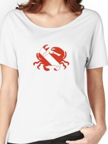 Crab Scuba Diver Silhouette Women's Relaxed Fit T-Shirt