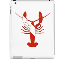 Lobster Scuba Diver Silhouette iPad Case/Skin