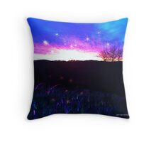 Mystical Fantasy When The Sun Sets Throw Pillow