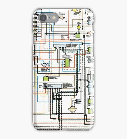 1972 car wiring diagram iPhone Case/Skin