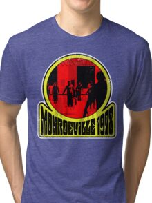 Monroeville, 1978 (White Background) Tri-blend T-Shirt