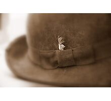 Feather in His Cap Photographic Print