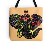 DC Elephant BLK orange ALT Tote Bag