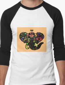 DC Elephant BLK orange ALT Men's Baseball ¾ T-Shirt