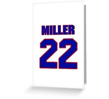 National football player Justin Miller jersey 22 Greeting Card