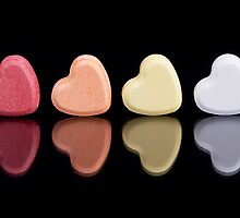 Candy Hearts by Norbert Rehm