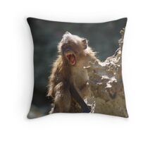 Yawn. Throw Pillow