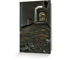 Tiled Corridor Greeting Card