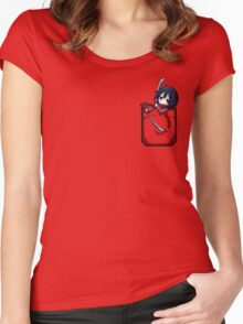 Mikasa Pocket Women's Fitted Scoop T-Shirt