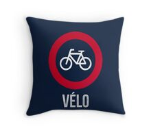 VÉLO III Throw Pillow