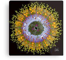 Cozmic Eyeball Mandala Metal Print