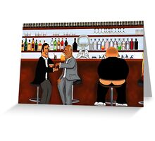 Corky the Bartender Greeting Card