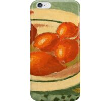 Plate with onions iPhone Case/Skin