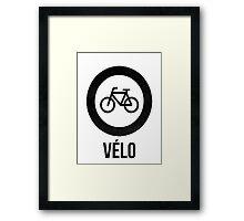 VÉLO  Framed Print