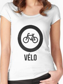 VÉLO  Women's Fitted Scoop T-Shirt