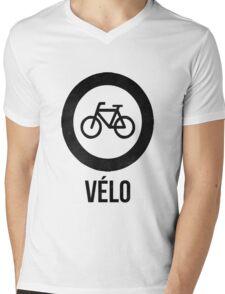 VÉLO  Mens V-Neck T-Shirt