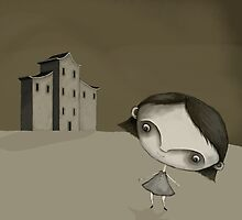 The Grey Girl and her house by Wendy Tyrer