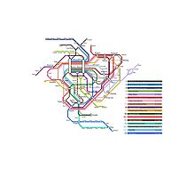 Rail Map of Gensokyo Photographic Print