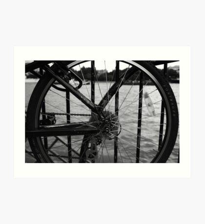 The Thames Through Spokes Art Print