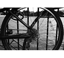 The Thames Through Spokes Photographic Print