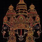 Lord Srinivas depicted in lights by Lokesh Kumar S