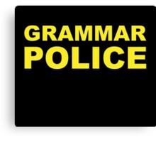 Grammar Police Canvas Print