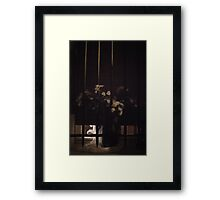 she left flowers for him and went away.. Framed Print