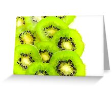 Water color of kiwifruit Greeting Card