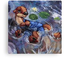 River Otter in Swimsuit Canvas Print