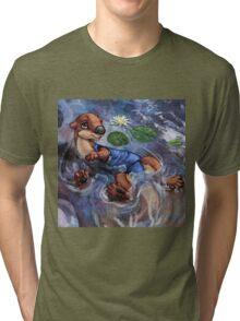 River Otter in Swimsuit Tri-blend T-Shirt