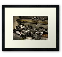 Pins and pulleys Framed Print