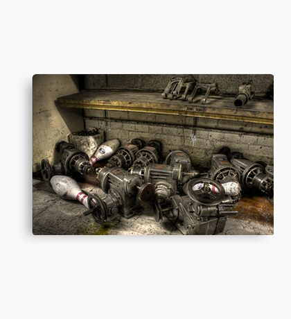 Pins and pulleys Canvas Print