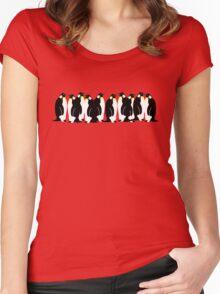 Ten penguins Women's Fitted Scoop T-Shirt