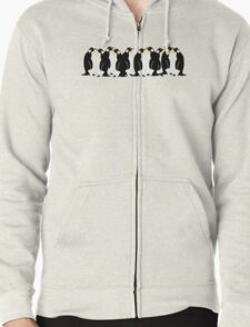 Ten penguins Zipped Hoodie