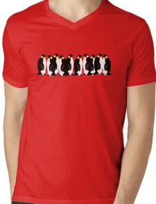 Ten penguins Mens V-Neck T-Shirt