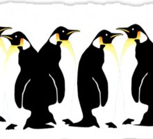 Ten penguins Sticker