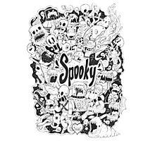 Spooky Doodleart Photographic Print