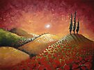 Sunset over Red Poppy Field by Cherie Roe Dirksen