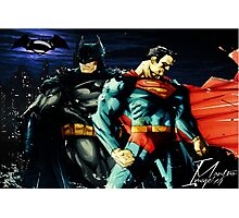 Superman VS Batman   Photographic Print