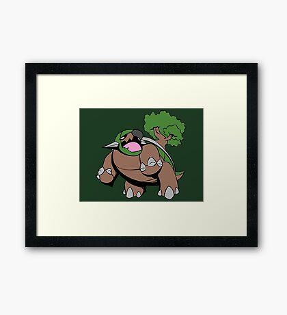 The Mighty Torterra Framed Print