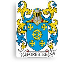 Forester Coat of Arms Canvas Print
