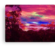neon suburbia Canvas Print