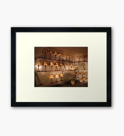 silence of the lamps Framed Print